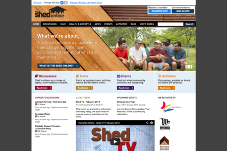 The Shed Online - Social Network Site