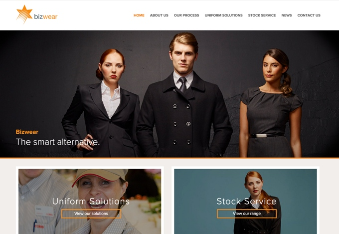 Bizwear - responsive website